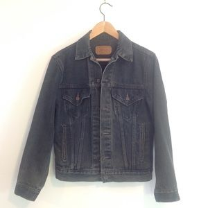 Black Levis Trucker Jacket Size small vintage